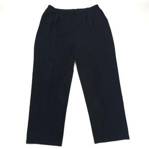 St. John Basics Pleated Front Stretch Waist Pants